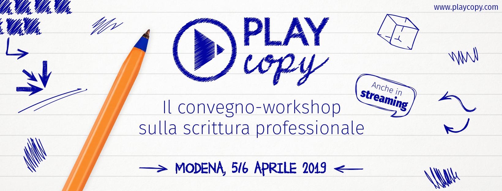 5 lezioni di scrittura dal Playcopy 2019