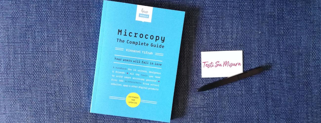 Scrivere microcopy con l'ottima guida di Kinneret Yifrah